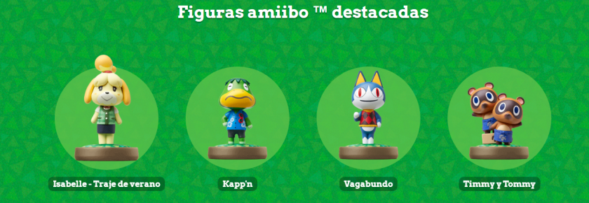 figuras destacada en Animal Crossing